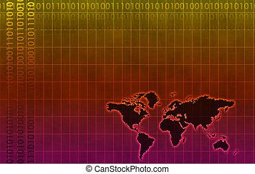 diagramme, constitué, données