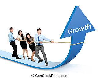 diagramme croissance, concept