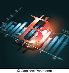 diagramme, crypto, finance