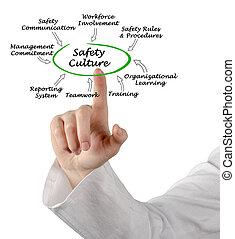 diagramme, culture, sécurité, avancé