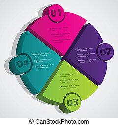 diagramme, degrés, bulle, 3d