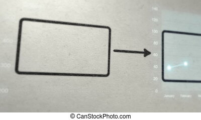 diagramme, dessin, business, diagramme