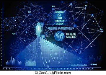diagramme, graphique, graphique financier, business