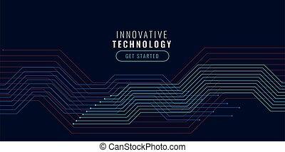 diagramme, lignes, fond, circuit, technologie, conception