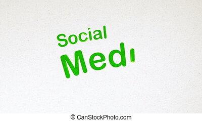 diagramme, média, animation, social