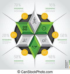 diagramme, moderne, circle., business, 3d