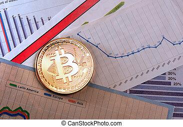 diagramme, monnaie, bitcoin, crypto