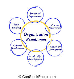 diagramme, organisation, excellence