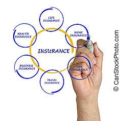 diagramme, présentation, assurance