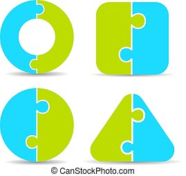 diagramme, puzzle, puzzle