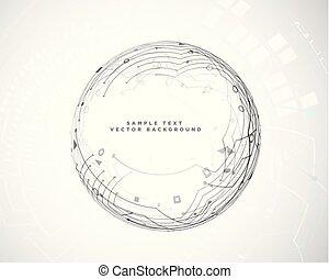 diagramme, résumé, technologie, circuit, circulaire