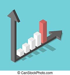 diagramme, rapide, barre, croissance