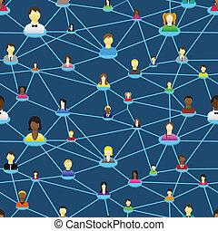diagramme, social, professionnels