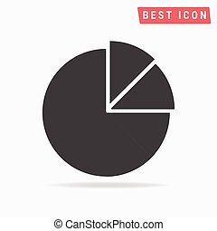 diagramme, tarte, icône