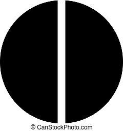 diagramme, tarte, moitié