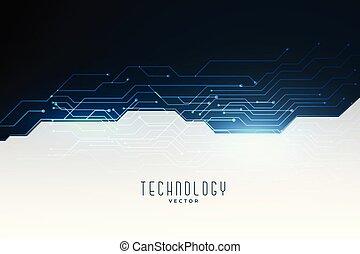 diagramme, technologie, concept, bannière, circuit