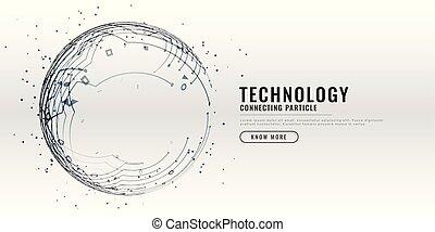diagramme, technologie, conception, circuit, fond