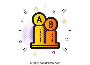 diagramme, vecteur, essai, ab, icon., ui, signe., essai