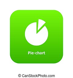 diagramme, vert, tarte, icône