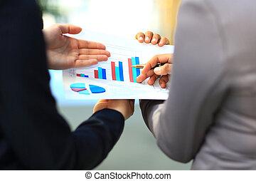 diagrammen, geanalyseerde, grafieken