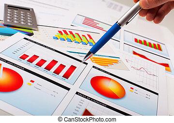 diagrammen, tafel., grafieken, zakelijk