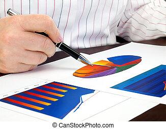 diagrammes, analyser, investissement