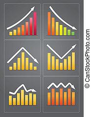 diagrammes, business, revenu
