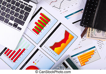 diagrammes, table., graphiques, business