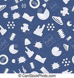 Diagramms Seamless Pattern - Business charts seamless...