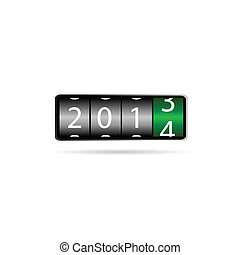 dial 2014 vector illustration