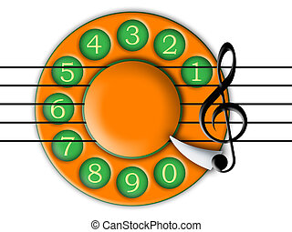 dial and music