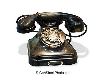 dial del teléfono, escritorio, pasado de moda, rotatorio