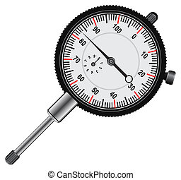 Dial indicator - Easy to read Dial indicator' white face...