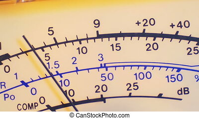 Dial Indicator Gauge Of The Transceiver and Signal Level...