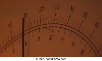 dial meter - arrow meter twitches with the change of...