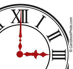 Dial of hours. Vector illustration - Dial of hours on a...