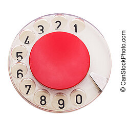 Dial of telephone