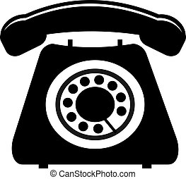 Dial Phone - Black and white dial phone.