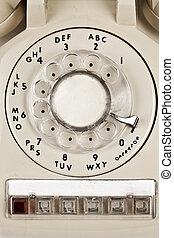 dial retro phone - Old retro phone, a dial number