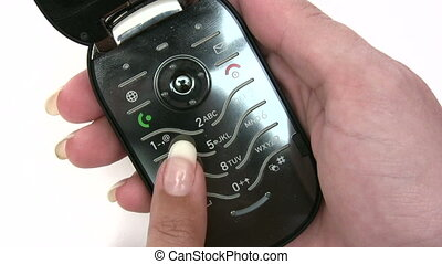 Dialing On A Cellphone - Canon HV30. HD 16:9 1920 x 1080 @...