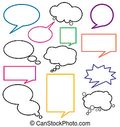 dialog, balloon, poselství