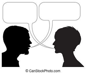 dialog, bildserie