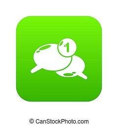 Dialog icon green