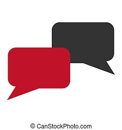 Dialog icon on a white background. Vector illustration