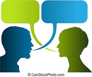 dialog, komischer streifen