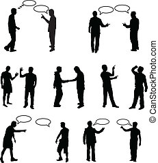 Dialog People -vectors work