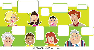 dialog, sväller, familj