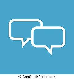 Dialog white icon