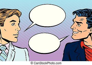 dialogo, uomini, due