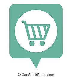 dialogue callout box with shopping cart vector illustration...